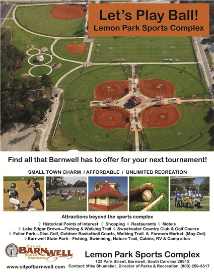 Baseball/Softball Tournament Venue Barnwell SC